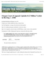 Oregon Trial Advocate 2/21/12